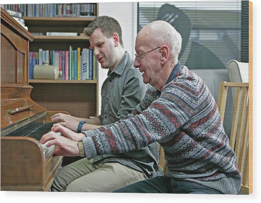 Dementia Resource Centre Wood Print by Lewis Houghton/science Photo Library