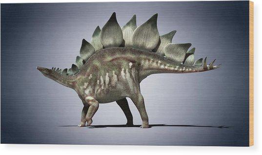Dinosaur Wood Print by Sciepro