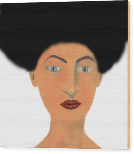 Face Wood Print by Moshfegh Rakhsha