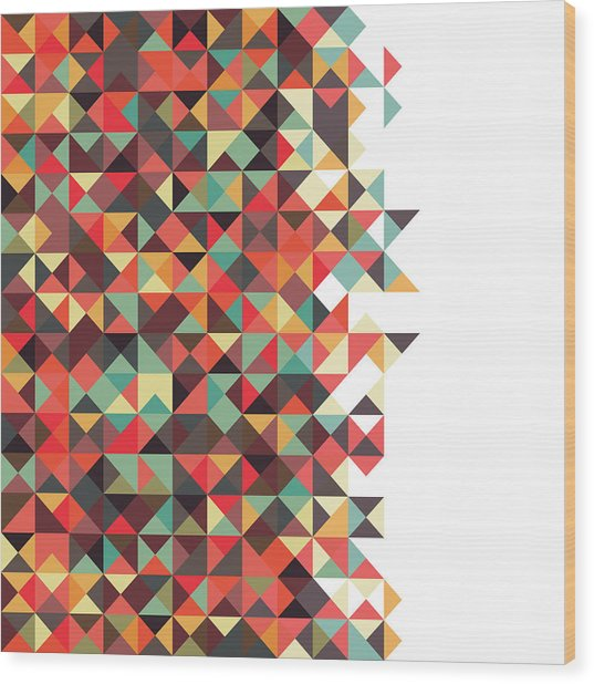 Geometric Art Wood Print