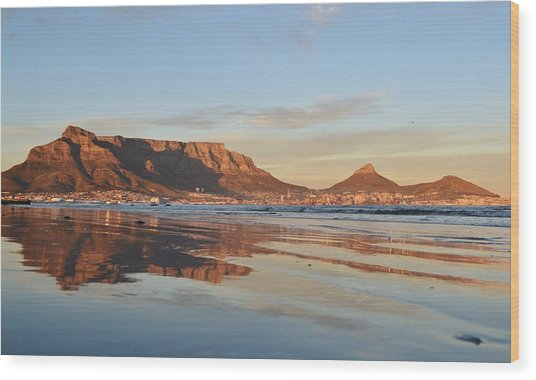 Good Morning Cape Town Wood Print