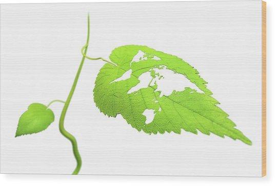 Green Planet Wood Print by Andrzej Wojcicki/science Photo Library