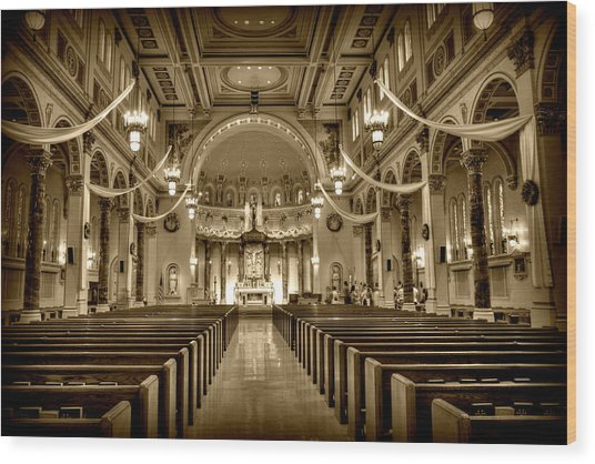 Holy Cross Catholic Church Wood Print