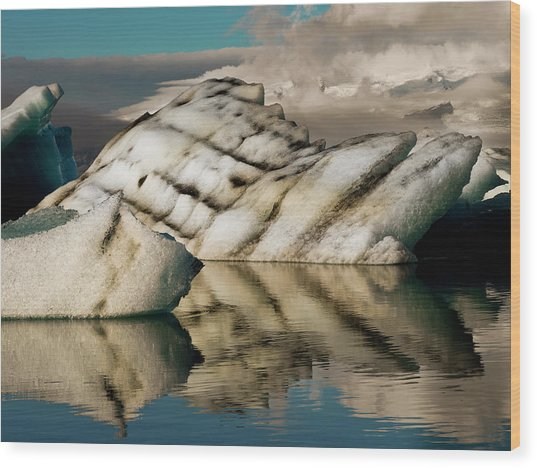 Iceberg Formations Broken Wood Print