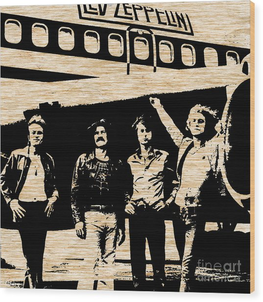 Led Zeppelin Wood Print