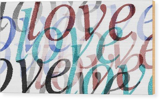 Love Wood Print by Moshfegh Rakhsha