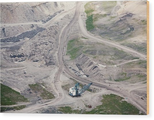 Mountaintop Removal Coal Mining Wood Print by Jim West