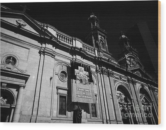 Santiago Metropolitan Cathedral Chile Wood Print by Joe Fox