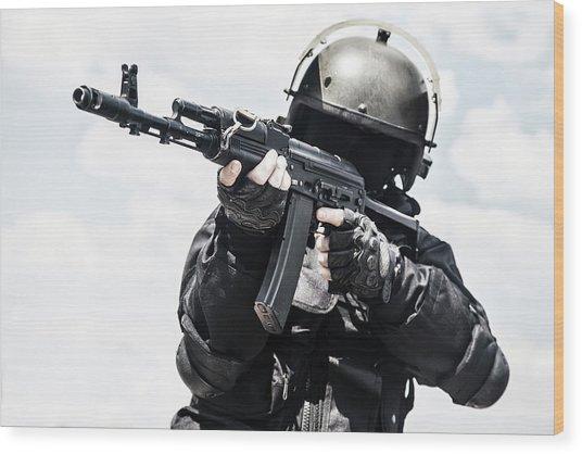 Spec Ops Soldier In Black Uniform