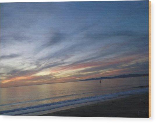 Sundown At Redondo Wood Print
