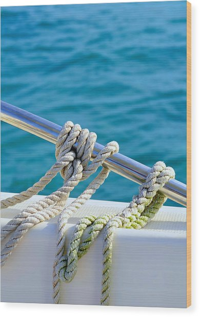 The Ropes Wood Print