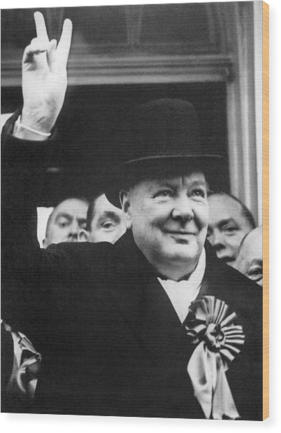 Winston Churchill Wood Print by Granger