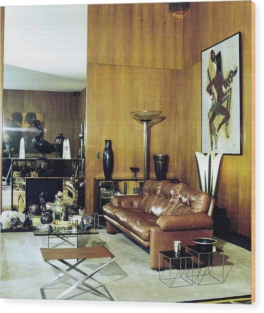 Yves Saint Laurent's Living Room Wood Print by Horst P. Horst