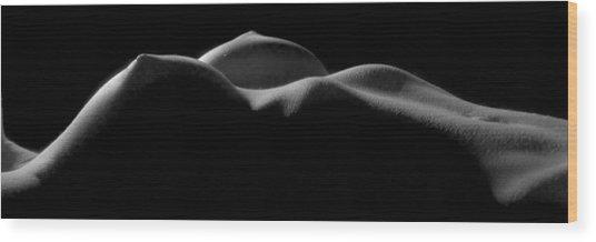 7346 Beautiful Bare Breast Landscape 1 To 3 Ratio  Wood Print