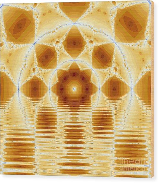 Fantasy Fractal Wood Print by Odon Czintos