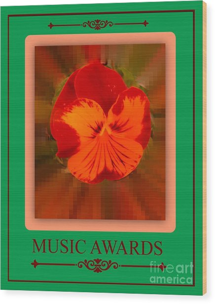 Music Awards Wood Print by Meiers Daniel