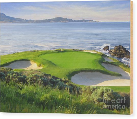 7th Hole At Pebble Beach Wood Print