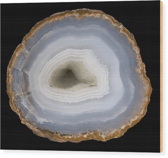 Agate Wood Print by Natural History Museum, London/science Photo Library