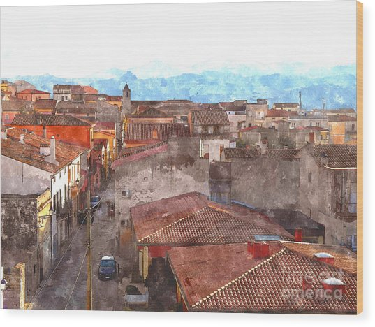 Arzachena Paesaggio Wood Print