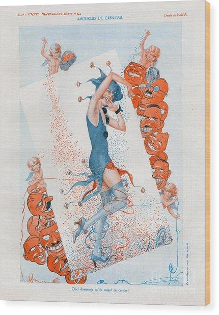 La Vie Parisienne 1930 1930s France Cc Wood Print by The Advertising Archives