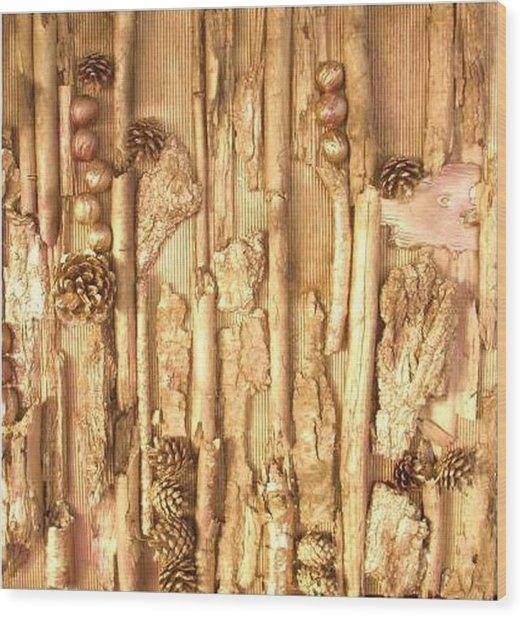 Mixed Media Wood Print by Wiola Anyz