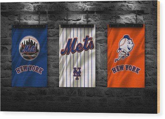 New York Mets Wood Print
