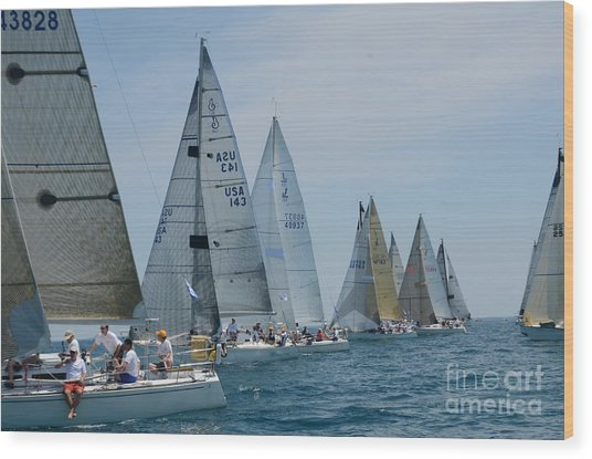 Sailboat Race Wood Print