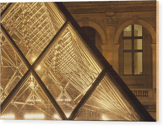 The Louvre Paris Wood Print