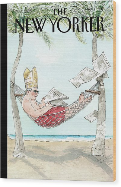 New Yorker March 11th, 2013 Wood Print by Barry Blitt