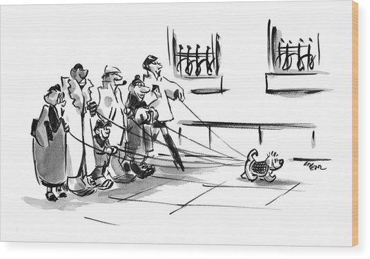 New Yorker December 20th, 2004 Wood Print