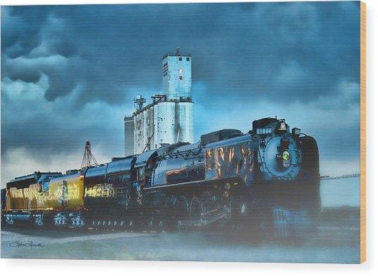 844 Night Train Wood Print