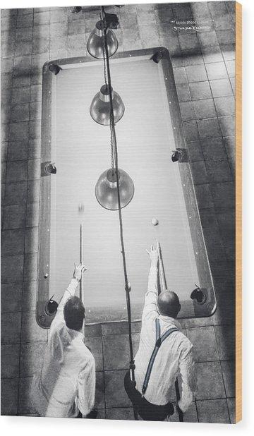 Wood Print featuring the photograph 9 Ball Lag by Stwayne Keubrick