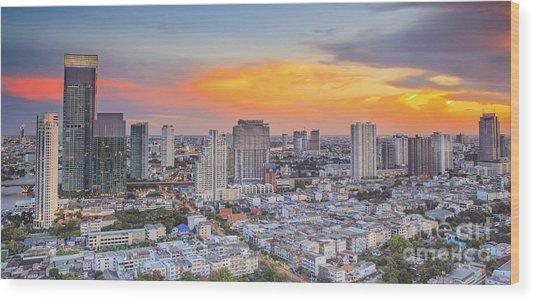 Bangkok City  Wood Print