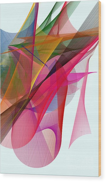 Color Symphony Wood Print