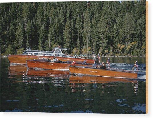 Lake Tahoe Wooden Boats Wood Print by Steven Lapkin