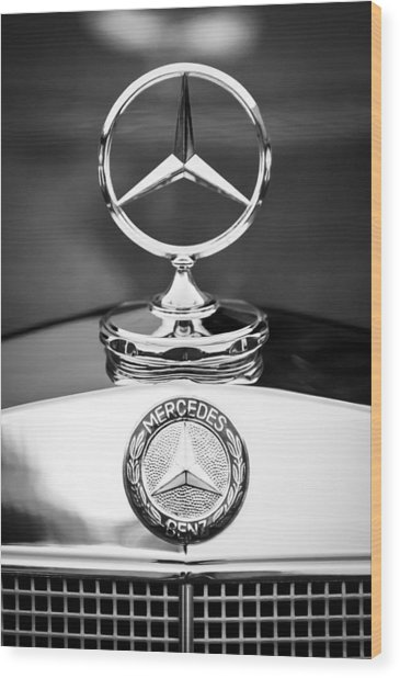 Mercedes-benz Hood Ornament Wood Print