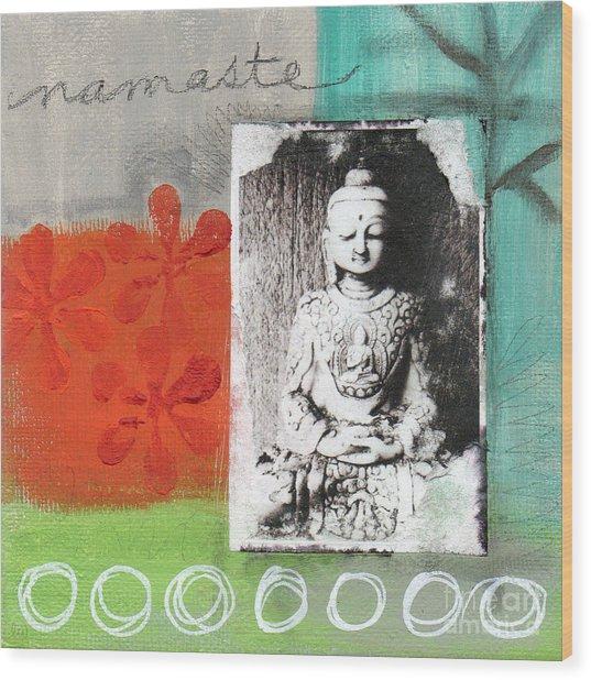 Namaste Wood Print