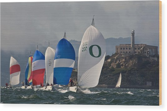 San Francisco Spinnakers Wood Print by Steven Lapkin