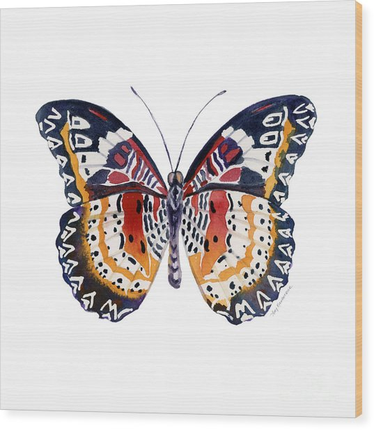 94 Lacewing Butterfly Wood Print