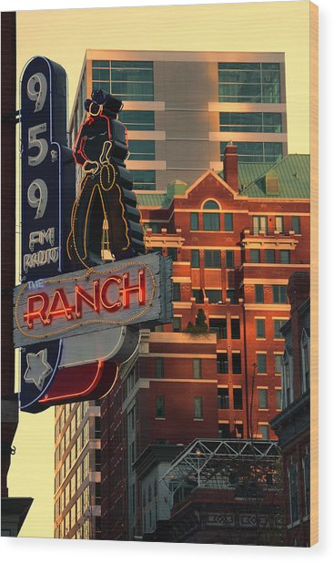 95.9 The Ranch  Wood Print