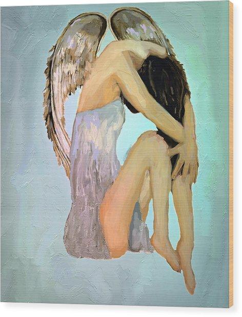 A Angels Tears Wood Print by Iris Piraino
