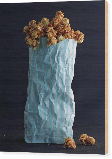 A Bag Of Popcorn Wood Print