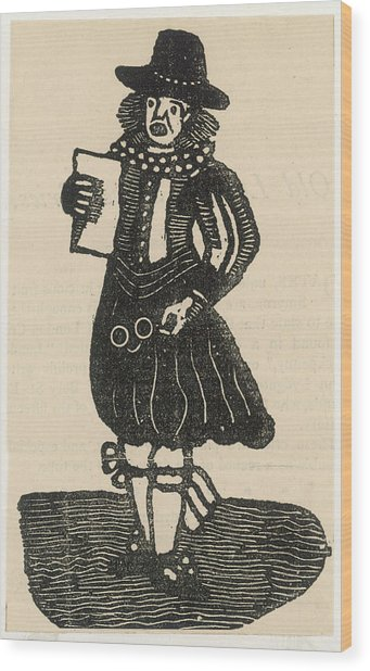 A Ballad Singer Of The London Streets Wood Print by Mary Evans Picture Library