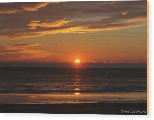 A Beach Life Sunrise Wood Print