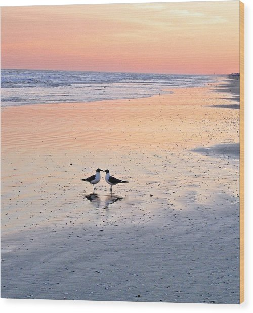A Beach Romance Wood Print