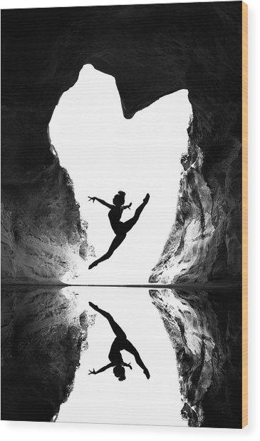 A Beating Heart Wood Print by E.amer