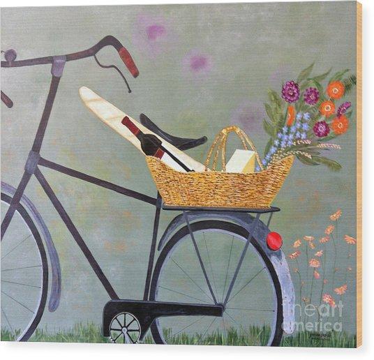 A Bicycle Break Wood Print