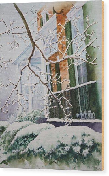 A Blanket Of Snow Wood Print