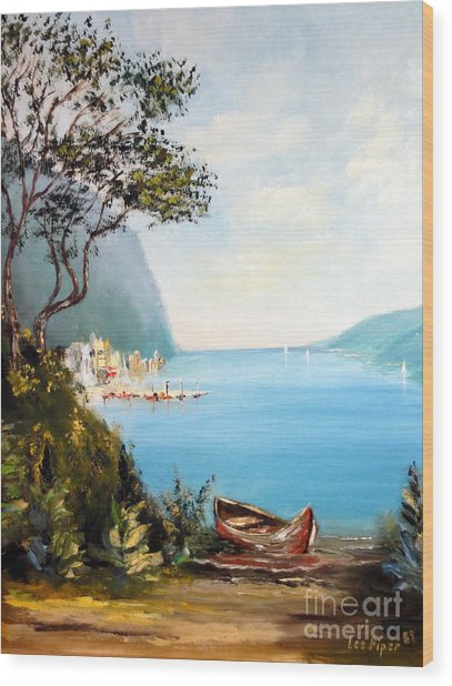 A Boat On The Beach Wood Print