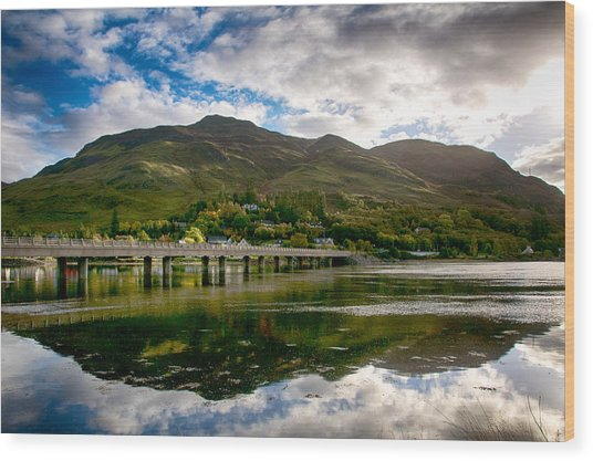 Wood Print featuring the photograph A Bonny Day In Dornie Scotland by Trever Miller